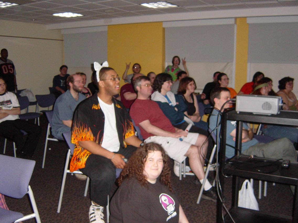 Animarathon II Screening in a Bowen Thompson Student Union Conferance Room.