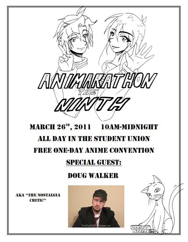 A flyer for Animarathon IX