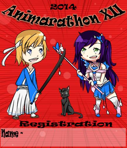 The 2014 Animarathon Badge.