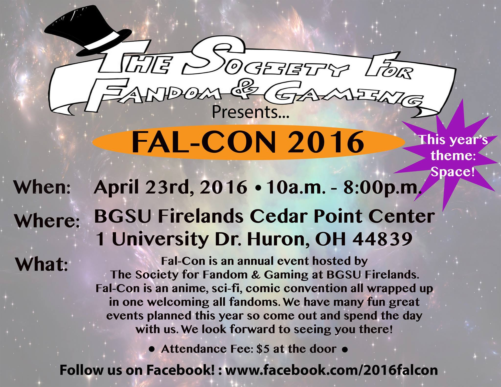 A flyer for FalCon 2016.